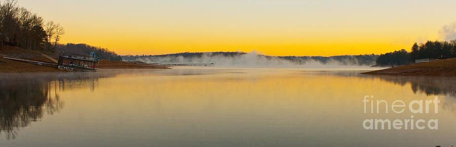 Sunrise Photograph - Fog Over The Lake by Michael Waters