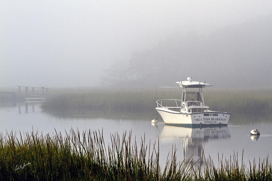 Boat Photograph - Foggy Anchor by Carl Jacobs