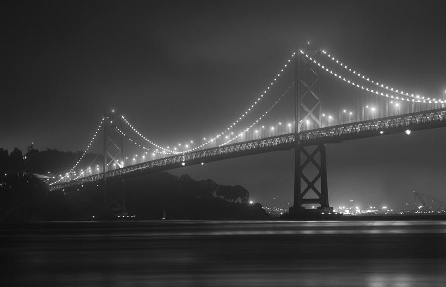 Foggy Bay Bridge by Bryant Coffey