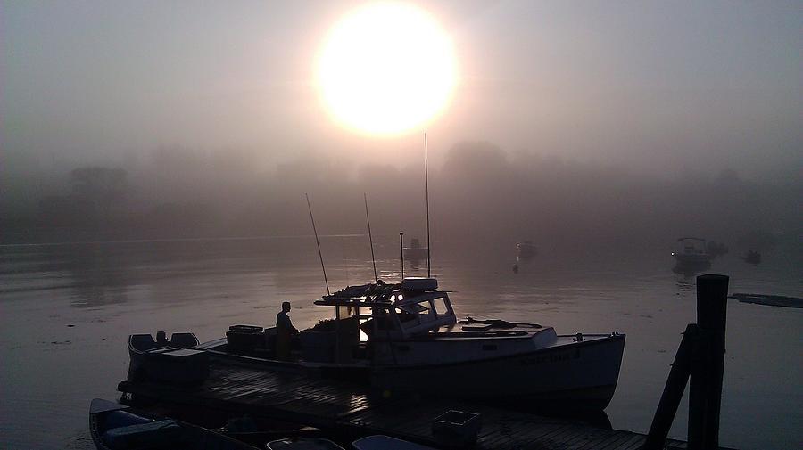 Foggy Boat Photograph