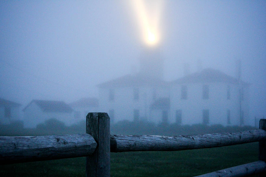 Foggy Photograph - Foggy Day At The Lighthouse by Allan Millora Photography