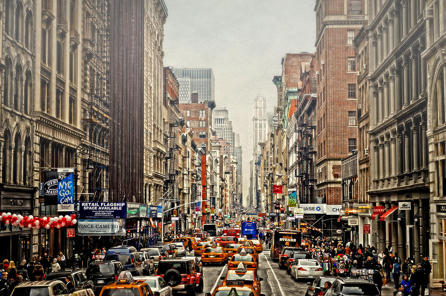 Nyc Photograph - Foggy Day In The City by Kathy Jennings