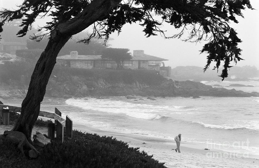 Foggy Day On Carmel Beach Photograph