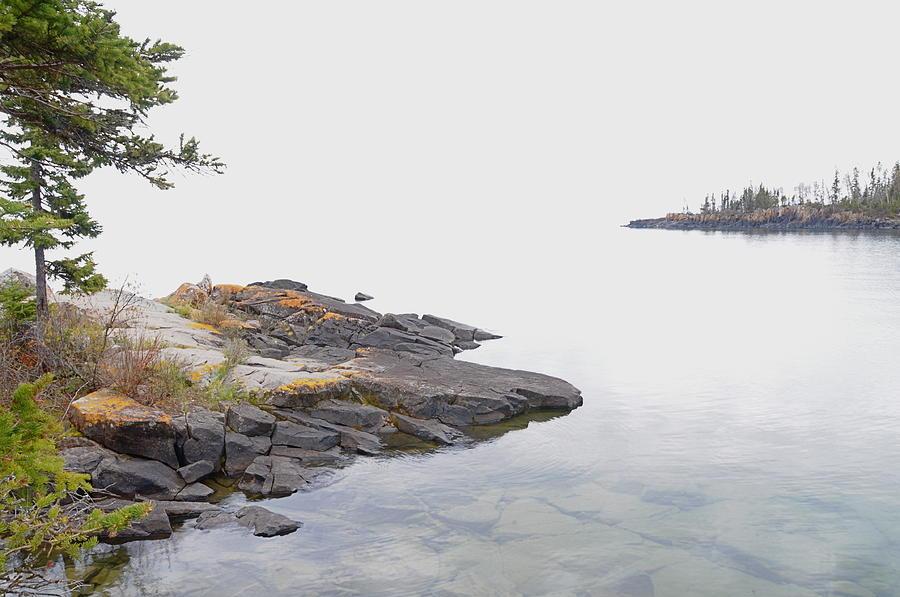 Foggy Day Photograph - Foggy Day On Lake Superior 2 by Sandra Updyke