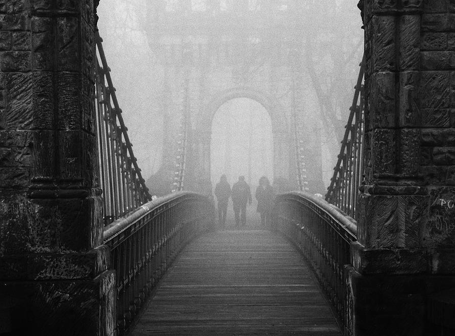Bridge Photograph - Foggy Day(they) by Catalin Alexandru