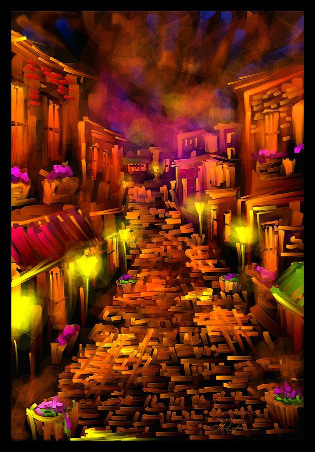 Street Painting - Foggy Dreams - Scratch Art Series - # 28 by Steven Lebron Langston