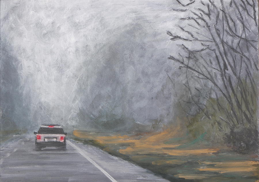 Foggy Drive Home by Robert Decker