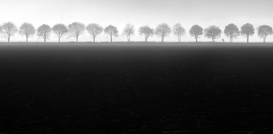 Landscape Photograph - Foggy Flevopolder by Huib Limberg