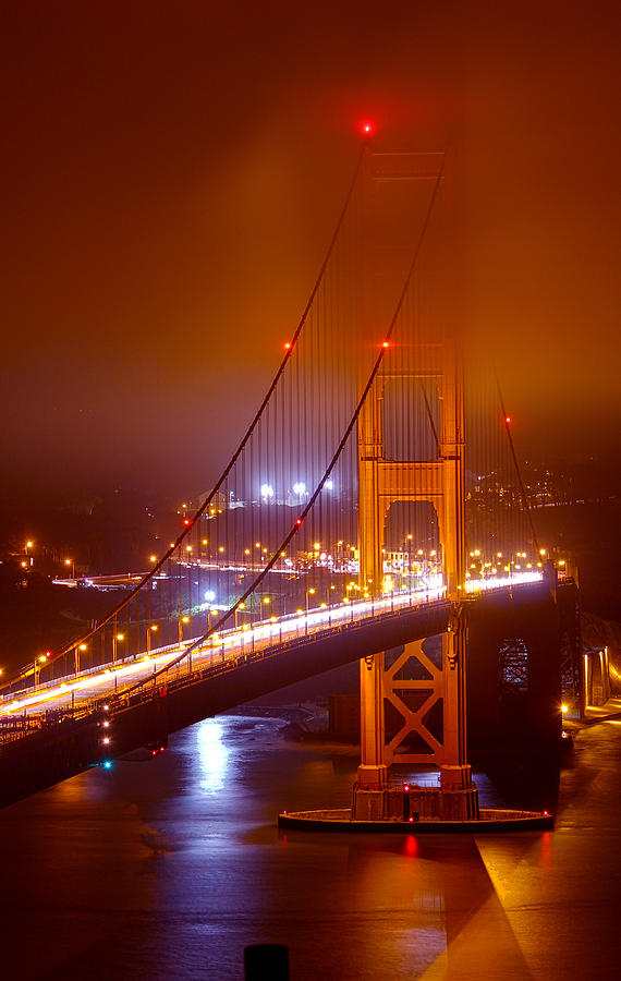 Foggy Golden Gate by Bryant Coffey