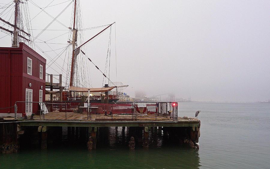 Fog Photograph - Foggy Harbor by John Collins