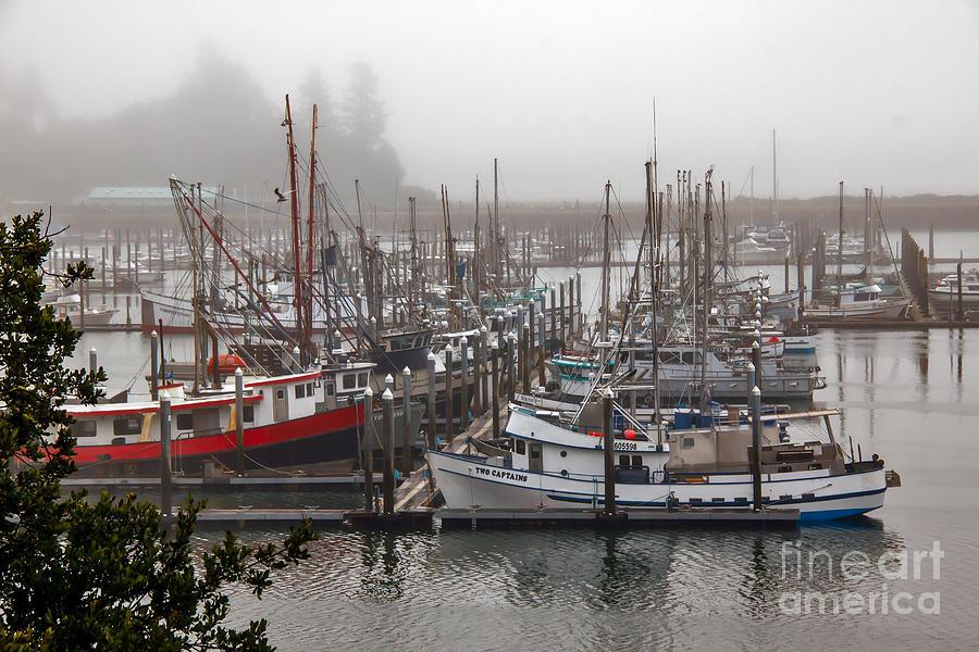 Ilwaco Photograph - Foggy Ilwaco Port by Robert Bales