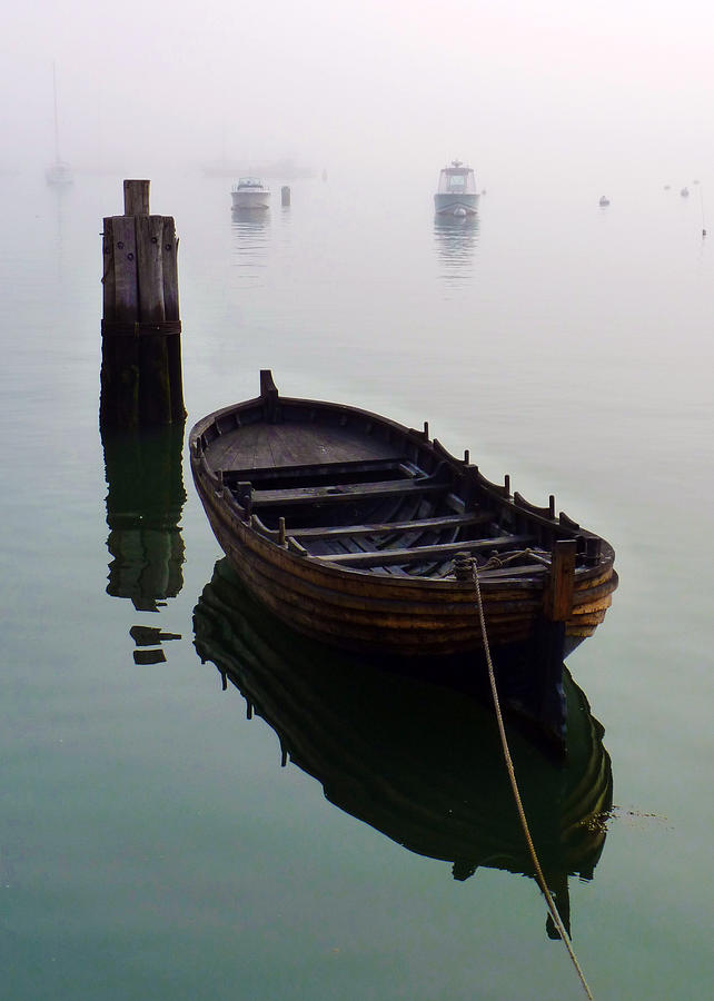 Boats Photograph - Foggy Morning by Janice Drew