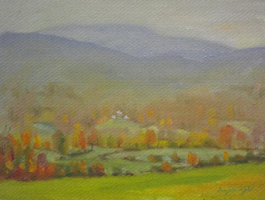 Foggy Morning Painting by Len Stomski