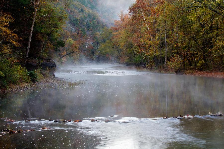 Arkansas Photograph - Foggy Morning On The Buffalo by Lana Trussell