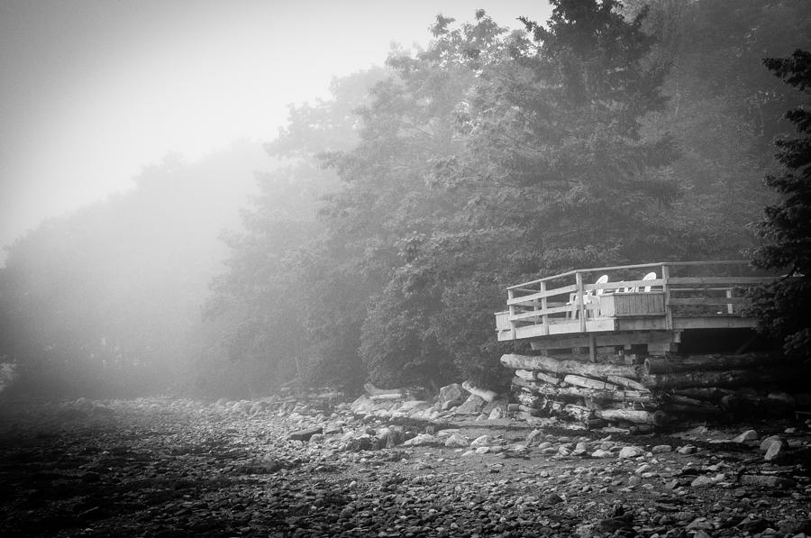 Fog Photograph - Foggy Morning Overlook by David Pinsent