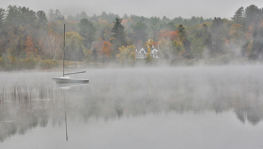 Foggy Morning Small Lake, New Hampshire Photograph by Darrell Gulin