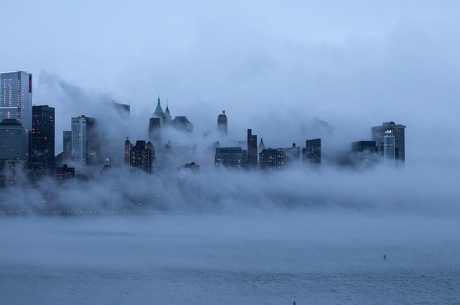 Foggy New York City Photograph by Laverrue Was Here