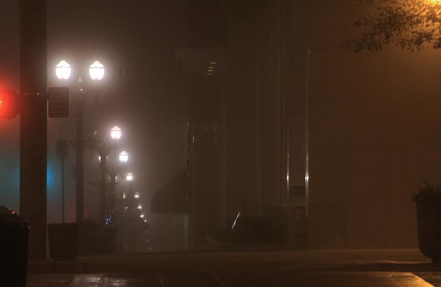 foggy night in Everett Photograph by Donald Torgerson