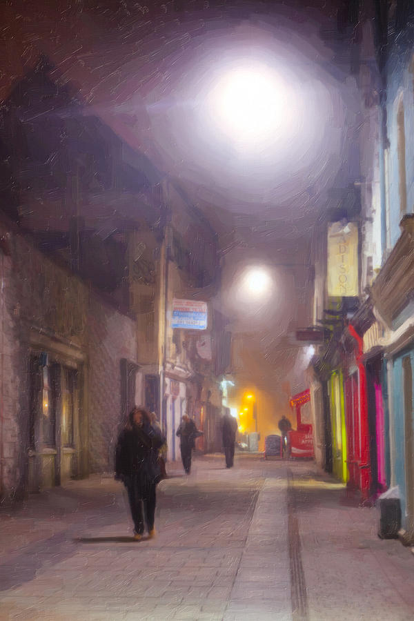 Galway Photograph - Foggy Night In The Heart Of Galway by Mark E Tisdale