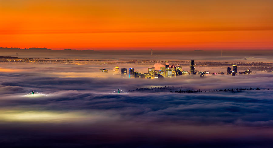 Vancouver Photograph - Foggy Sunrise by Alexis Birkill