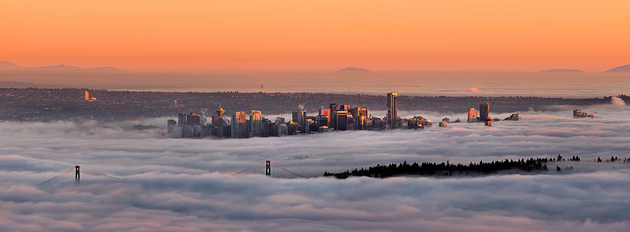 Vancouver Photograph - Foggy Sunset by Alexis Birkill