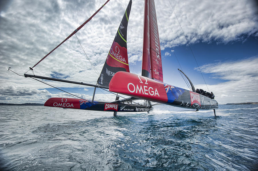 Sail Photograph - Foiling 4 by Chris Cameron