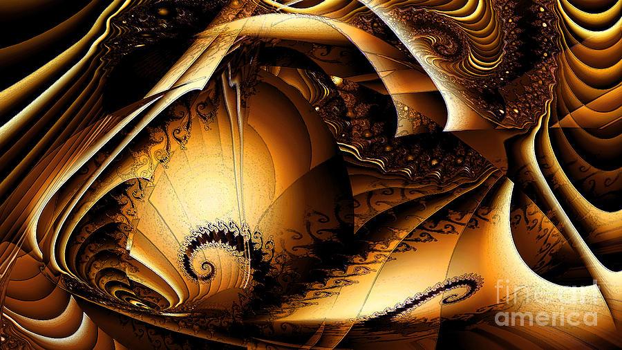 Nicholls Digital Art - Folds In Time by Peter R Nicholls