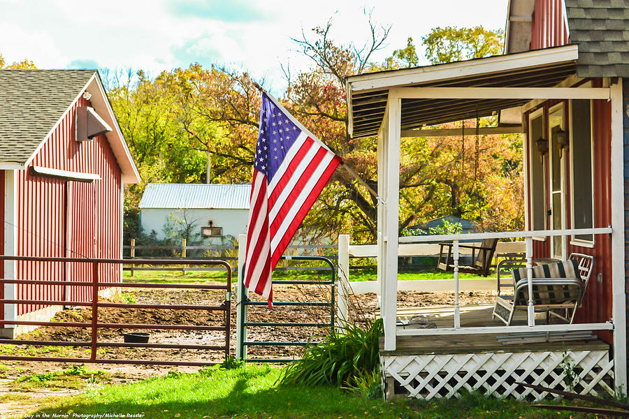 American Flag Photograph - Folk Art by Michelle and John Ressler