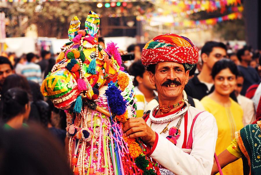 Folk Photograph - Folk Dancer by Money Sharma