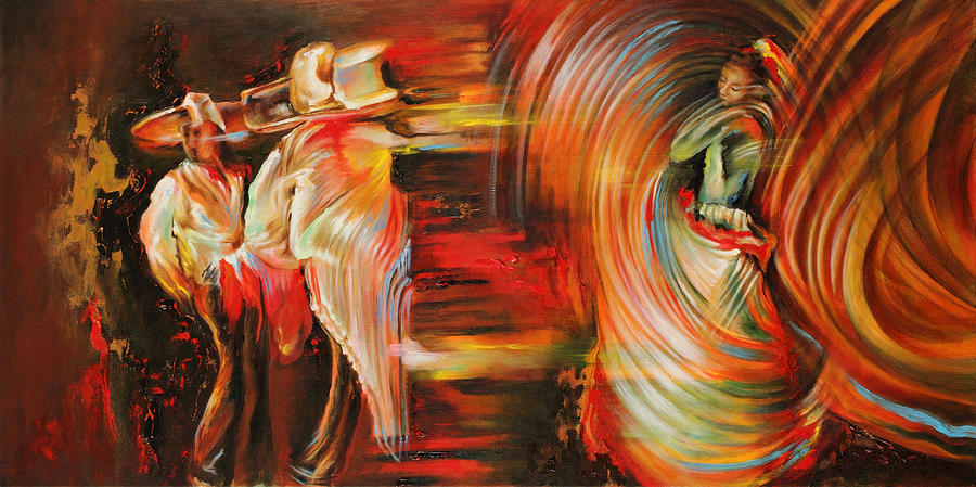 Dance Painting - Folklore by Karina Llergo