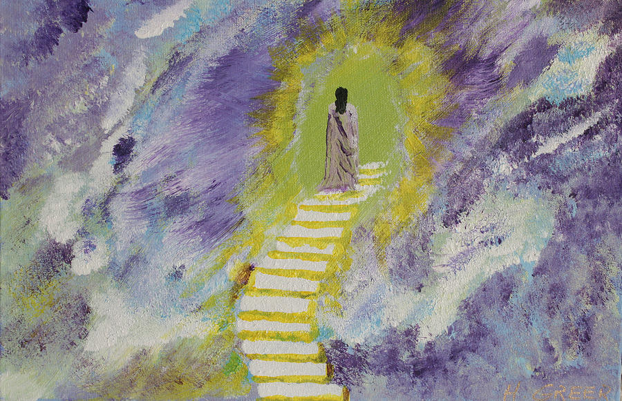 Stairs Painting - Follow Me by Harold Greer