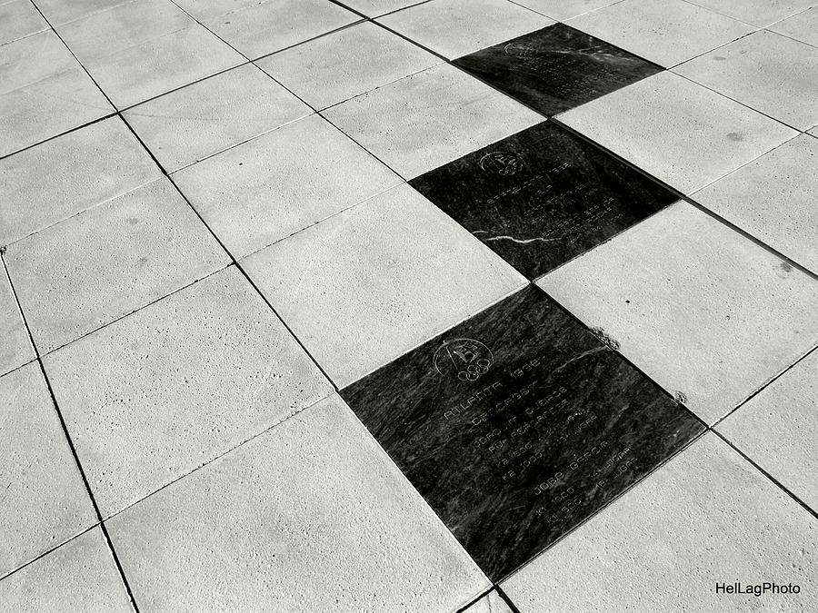 Squares Photograph - Follow Me by Helena Lagartinho
