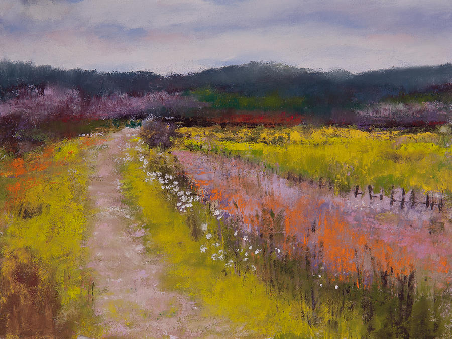 Pastel Painting - Follow The Daisies by David Patterson
