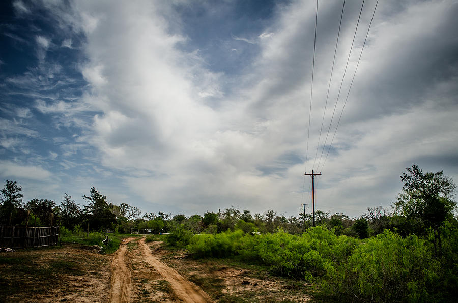 Landscape Photograph - Follow The Dirt Road Home by Kelly Kitchens