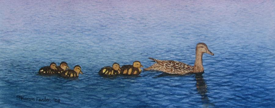 Duck Painting - Follow The Leader II by Sharon Farber