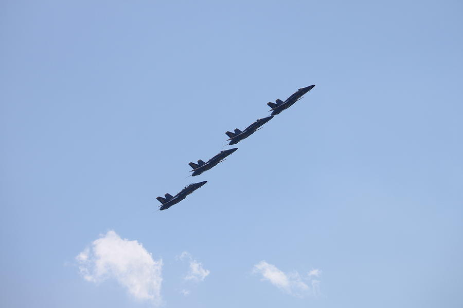 Blue Angels Photograph - Follow The Leader by French Toast