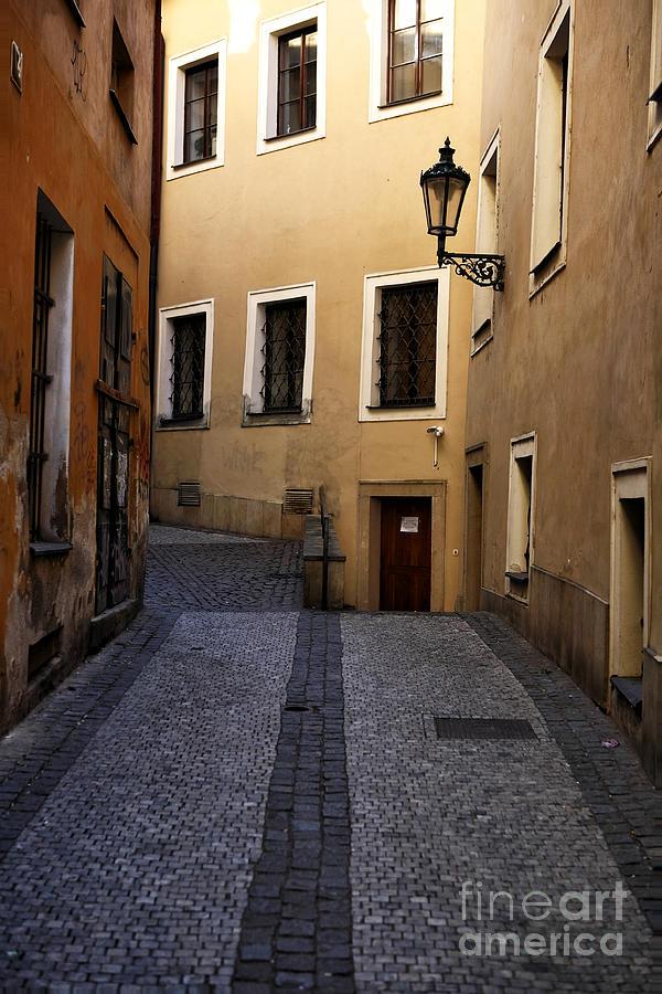 Street Photograph - Follow The Line by John Rizzuto