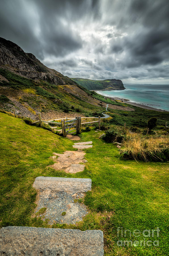 Beach Photograph - Follow The Path by Adrian Evans
