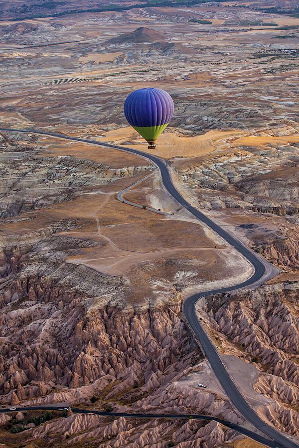 Balloon Photograph - Follow The Path by Gunarto Song