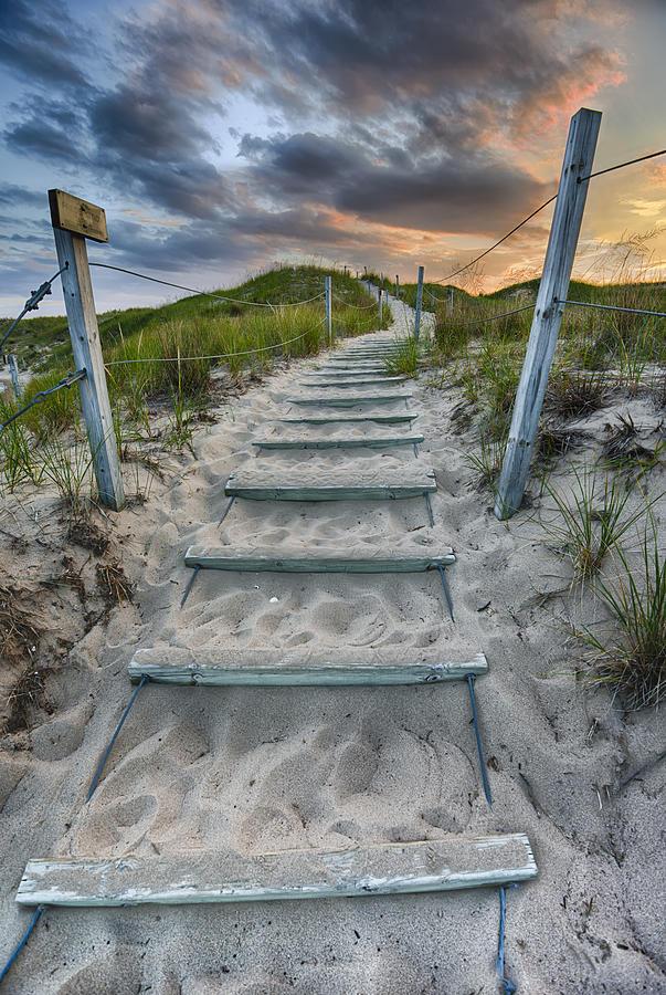 Cloud Photograph - Follow The Path by Sebastian Musial