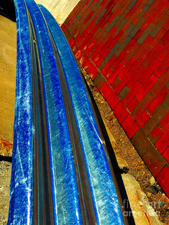 Abstract Photograph - Follow The Rails by Marcia Lee Jones