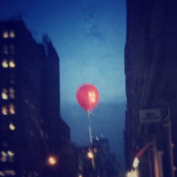 Follow The Red Balloon Photograph by Evan Kelman