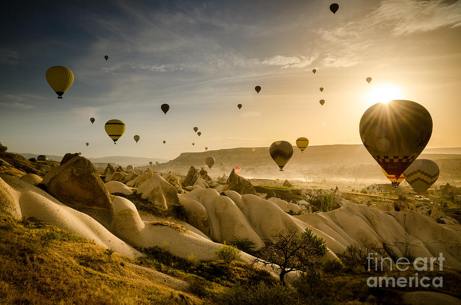 Asia Photograph - Follow the wind - Cappadocia Turkey by OUAP Photography