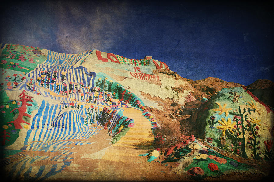 Salvation Mountain Photograph - Follow The Yellow Brick Road by Laurie Search