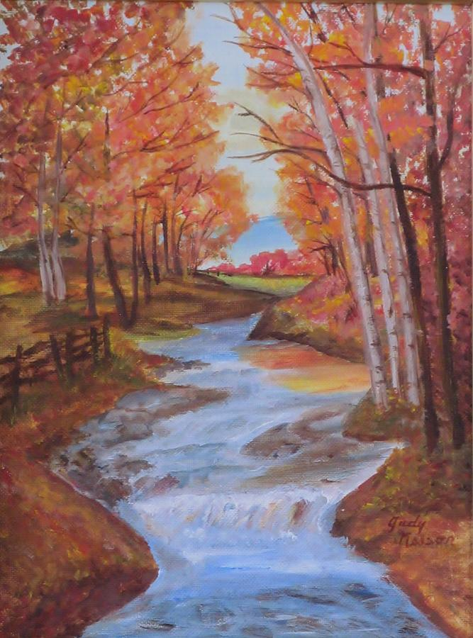 Landscape Painting - Follow Your Dream by Judy Nelson