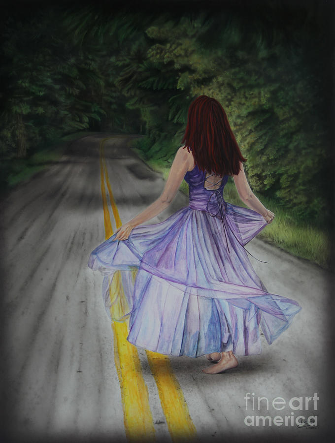 Artwork Painting - Follow Your Path by Jackie Mestrom