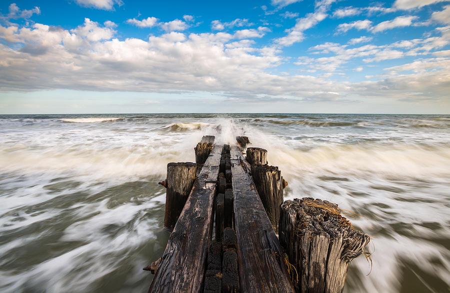 Folly Beach Photograph - Folly Bach Charleston Sc Coastal Ocean Waves by Dave Allen