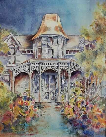 Victorian House Painting - Fond Memories by Mary Haley-Rocks