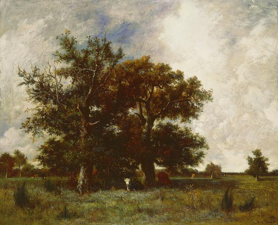 Tree Painting - Fontainebleau Oak by Jules Dupre