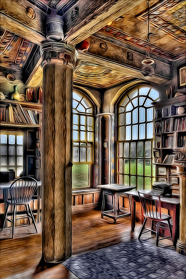 Byzantine Photograph - Fonthill Castle Office by Susan Candelario